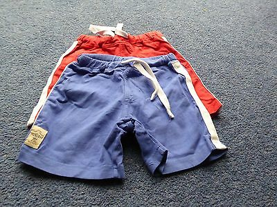 Two pairs of baby boy Next shorts age 12 to 18 months