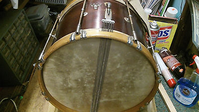 Vintage W.F.Ludwig Wooden Marching Drum With Strap