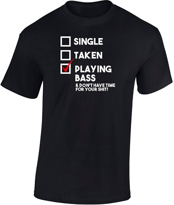 Playing Bass T shirt New  Funny Gift