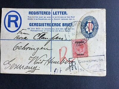 South Africa Stamps OPT ZUIDWEST AFRIKA Registered Envelope