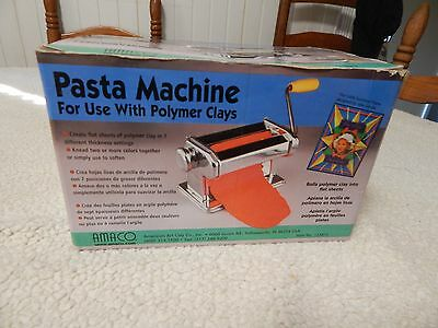NEW Amaco Craft Pasta Machine For Use with Polymer Clays & Soft Metal Sheets