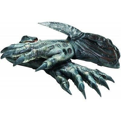 Deluxe Predator Hands Adult Mens Alien Hunter Gloves Halloween Costume Accessory