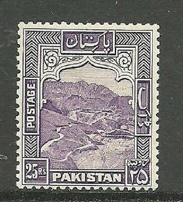 Pakistan 1948-57 SG43a, 25R Violet lightly mounted mint P12