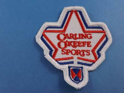 Carling O'keefe Sports Star Beer Vintage Cloth Patch Brewery Collector Badge