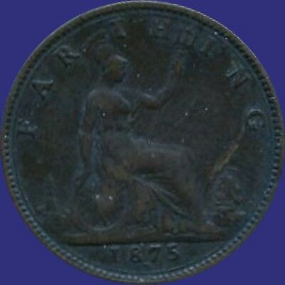 1875 'H' Great Britain 1 Farthing Coin