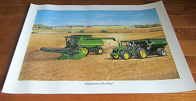 "John Deere "" Performance That Pays"" Limited Edition Print Signed & Numbered Coa)"
