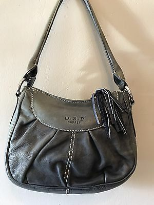 Lovely Grey Osprey Leather Bag In Excellent Condition