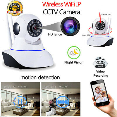 Wireless Wifi IP Camera HD 720P CCTV HOME Indoor Security IR Night Vision