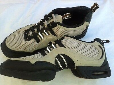 *BLOCH* Mens Black & Ivory Dance Jazz Shoes Size 8 Very Good Condition
