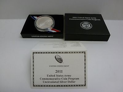 2011 US Army Commemorative UNC Silver Dollar Coin #1