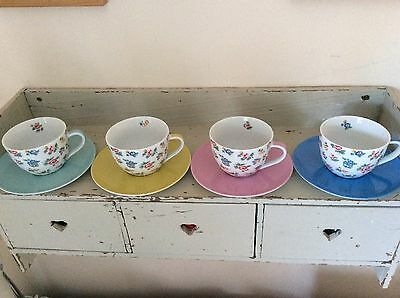 Cath Kidston Highgate Rose Cappuccino Cup And Saucer Set