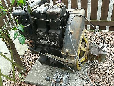 Lister St2 Engine,electric Start,hydraulic Pump  With Morse Control.runs Sweet.
