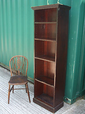 """Antique Victorian tall narrow bookcase, 72"""" high, all original, with shelves"""