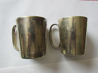 vintage epns - electro plated nickle silver cups - collectable