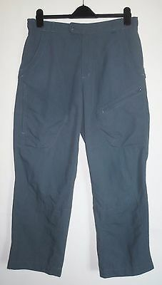 "Mens M Medium (31-34"" W) 28.5""l Rohan Expedition Cargos Cargo Trousers Blue"