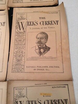 The Week's Current Chicago Publication 1898-1900 10 Issues