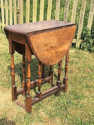 Antique? Drop Leaf Table, Small Gate Leg Table