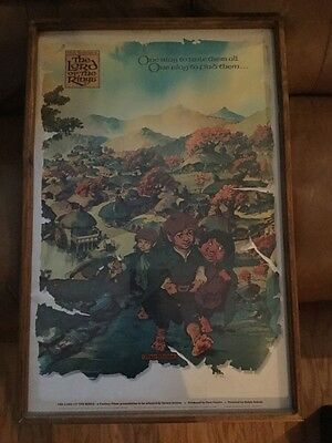 Lot Of 2 Vintage 1978 Lord Of The Rings Movie Posters/Prints