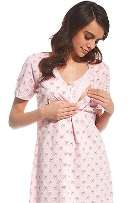 Maternity Nightdress Nightshirt Nightie Breastfeeding Nursing Gown Gift For Her