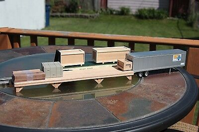 S gauge handmade freight platform for American Flyer and others