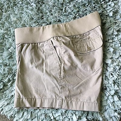 Liz Lange Maternity Shorts, Khakis, Sz Large, Under Belly Coverage