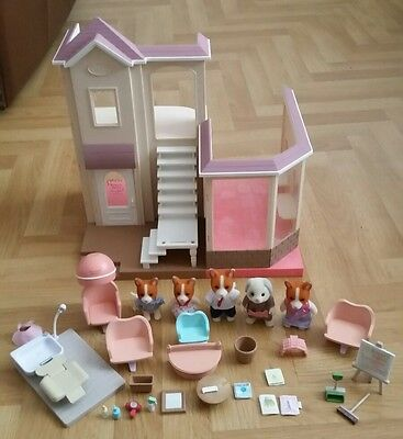 Sylvanian Families Beauty Salon, Antonio Patches Hairdresser, Furniture, Figures