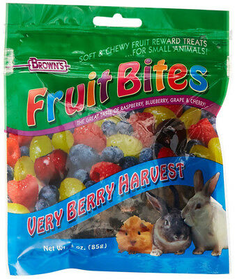 F.M. BROWN'S - Fruit Bites Verry Berry Harvest Small Animal Treats - 3 oz (85 g)