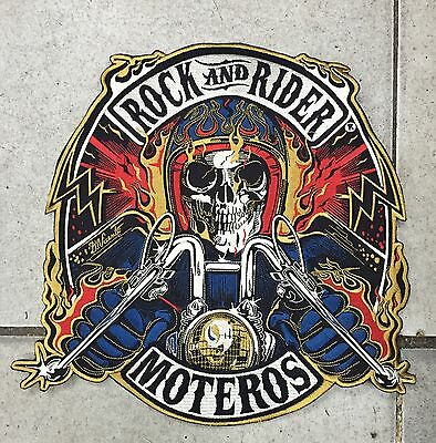 Parche Motero Rock And Rider® XXL. Calavera, Patch, Skull, Harley, Indian, Motor