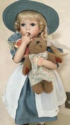 Caroline A Limited Edition Porcelain And Cloth Doll By Hanah Collections.