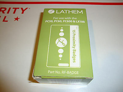 15x Lathem Proximity Time Clock RFbadge RFID Badge For PC50,PC60,PC600,LX100