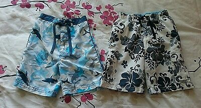 Two boys swimming shorts,Aged 4-5 years.