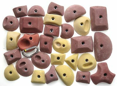 29 synrock bolt-on Climbing Holds Geometric Pinches and Pockets + Free Bolts