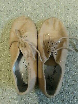 Energetiks size 12 Tan Jazz shoes with laces