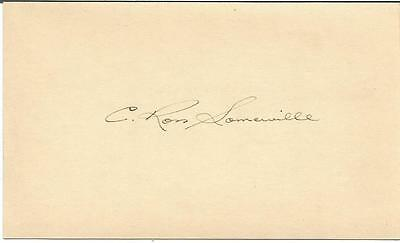C. Ross Somerville Signed Governement Post Card JSA Letter of Authenticity