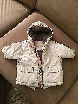 Baby GENUINE Burberry Jacket Coat 9 Months Cream Infant Kids Child