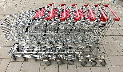 Lot (6) Supermarket Grocery Cart Standard Metal With Child Seat