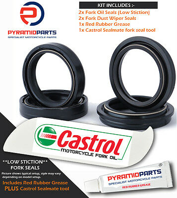 Fork Seals Dust Seals & Tool for Aprilia RSV1000 SP 1999 Ohlins AP8123975