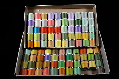 92 Spools Of Thread With A Wide Variety Of Colors