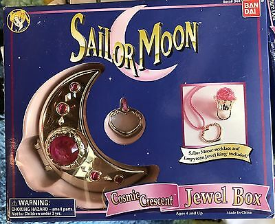 Sailor Moon Unused Toy Cosmic Crescent Jewel Box Ring Necklace Bandai 1995 NIB