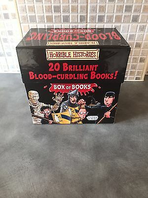 Horrible Histories Blood-Curdling Box of Books 20 Book Box Set