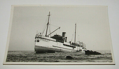 Scillonian Ship On Rocks, James Gibson Scilly Isles Real Photograph Old Postcard