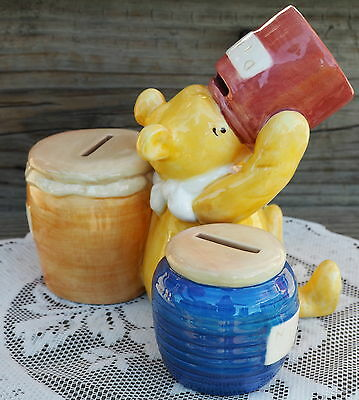 Disney Winnie the Pooh Ceramic Different Coin Sections Marked Disney 4 Stoppers