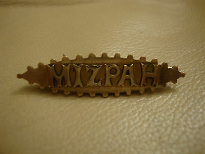Old vintage antique Victorian Edwardian ww1 rolled gold plated MIZPAH brooch pin