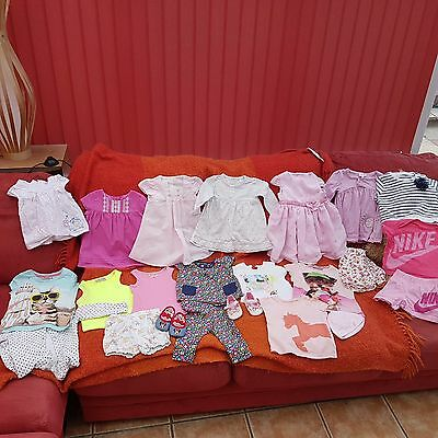 Baby Girl's NEXT, TU, Nike, Debenhams Summer Clothes, Shoes Bundle 3 - 6 Months