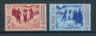 Norway 790-1 MNH,Year of the Disabled, 1981