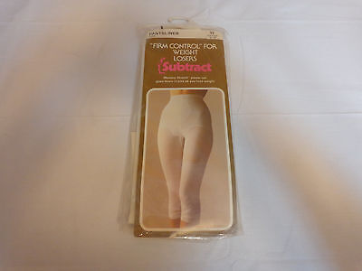 Nwt Vintage Subtract Pantsliner Long Leg Girdle White Size 32 # 2507 Brand New