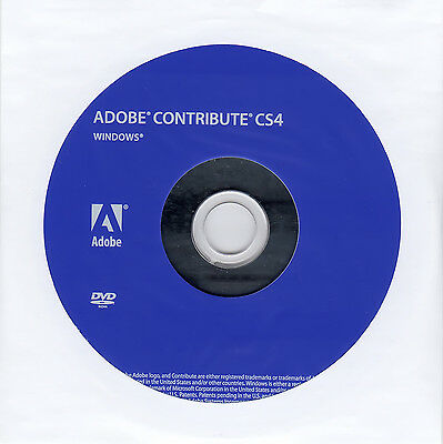 Adobe Contribute CS4 for Windows – (DVD & License)