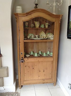 Genuine Victorian Pine Display Cupboard