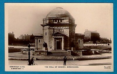 Postcard ~ The Hall of Memory, Birmingham - Hallams Series Real Photo