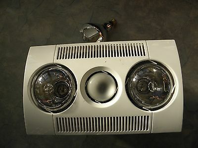 Bathroom heat lamp and exhaust fan, new old stock, and spare heat bulb